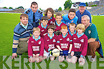 Pictured at the Killarney Garda football blitz in Fitzgerald Stadium, Killarney on Friday were Conor Coffey, Cian O'Sullivan, Shane O'Sullivan, Corey Kissane, Dean O'Sullivan, David Clifford, John Murphy, Christy Buckley and Ewan Weldon, Two Mile School, with teacher Tim McKenna, Garda Eddie Walsh,  Detective Patsy Kelliher and Dermot Clifford.