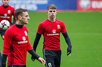 Ben Woodburn during Wales national team training ahead of the World Cup Qualification match against Republic of Ireland at Cardiff City Stadium, Cardiff, Wales on 8 October 2017. Photo by Mark  Hawkins.