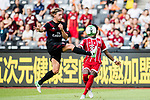 AC Milan Defender Ignazio Abate (L) fights for the ball with Bayern Munich Defender David Alaba (R) during the 2017 International Champions Cup China  match between FC Bayern and AC Milan at Universiade Sports Centre Stadium on July 22, 2017 in Shenzhen, China. Photo by Marcio Rodrigo Machado / Power Sport Images