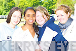 Killarney Presentation girls Sarah Jane Horgan, Caslyn Cuppan, Jennifer Brosnan and Stephanie O'Callaghan after the first English paper of their leaving cert on Wednesday   Copyright Kerry's Eye 2008