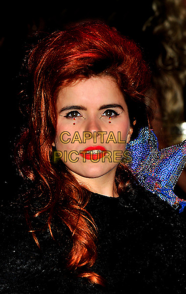 "PALOMA FAITH.The UK Premiere of ""The Imaginarium Of Doctor Parnassus"" at the Empire Leicester Square, London, England..October 6th 2009.headshot portrait red lipstick stones crystals make-up black .CAP/CJ.©Chris Joseph/Capital Pictures."