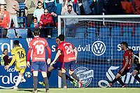 Luis Mu&ntilde;oz (defender; CD Lugo) during the Spanish <br /> la League soccer match between CA Osasuna and CD Lugo at Sadar stadium, in Pamplona, Spain, on Saturday, <br /> April 28, 2018.