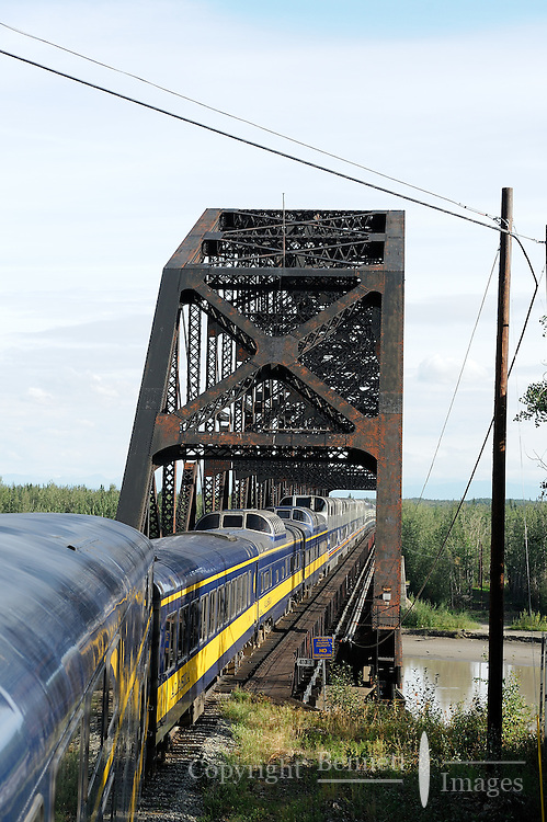 The railroad goes over the Tanana River at Nenana. The Alaska Railroad's Denali Star train runs between Anchorage and Fairbanks, with Denali one of the stops along the way.