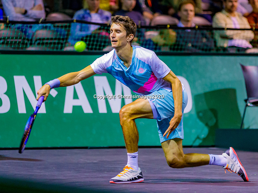 Rotterdam, The Netherlands, 9 Februari 2020, ABNAMRO World Tennis Tournament, Ahoy, Qualyfying round: Yannick Maden (GER)<br /> Photo: www.tennisimages.com