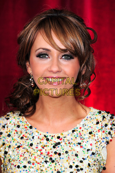 SAMIA SMITH.British Soap Awards 2010 at the London ITV Studios, South Bank, London, England..May 8th 2010.arrivals headshot portrait multi-coloured beads beaded red white yellow green black make-up.CAP/CJ.©Chris Joseph/Capital Pictures.