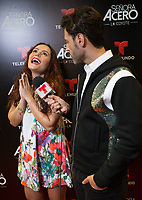 DORAL, FL - NOVEMBER 6: Ana Lucia Dominguez and Quique Usale on the red carpet for Telemundo's season premiereofSenora Acero,La Coyote in CineBistro at City Place Doral, Florida. November 6, 2017. Credit: mpi140 / MediaPunch /NortePhoto.com