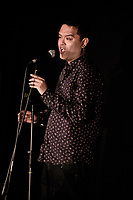 Paul Sinha - Stand Up Comedian and star of ITV's The Chase - has announced today that he has Parkinsons Disease and has cancelled his Edinburgh Festival shows. The former doctor, 49, said that he was diagnosed on May 30th, after a right sided limp had got worse during his New Zealand tour, but he has a treatment plan in place.<br /> Pictured here performing at The Comedy Crate at The Deco Theatre, Northampton on June 5th 2019<br /> <br /> Photo by Stuart Hogben