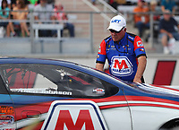 Oct 28, 2016; Las Vegas, NV, USA; NHRA pro stock driver Allen Johnson with crew member and father Roy Johnson during qualifying for the Toyota Nationals at The Strip at Las Vegas Motor Speedway. Mandatory Credit: Mark J. Rebilas-USA TODAY Sports