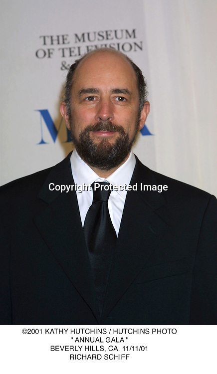 "©2001 KATHY HUTCHINS / HUTCHINS PHOTO."" ANNUAL GALA "".BEVERLY HILLS, CA. 11/11/01.RICHARD SCHIFF"