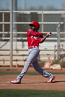 Cincinnati Reds center fielder Zeke White (35) during a Minor League Spring Training game against the Chicago White Sox at the Cincinnati Reds Training Complex on March 28, 2018 in Goodyear, Arizona. (Zachary Lucy/Four Seam Images)