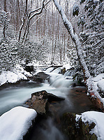 Winter waterfall on Rocky Fork