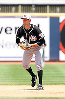 July 10th 2008:  Shortstop Jordy Mercer of the Hickory Crawdads, Class-A affiliate of the Pittsburgh Pirates, during a game at Classic Park in Eastlake, OH.  Photo by:  Mike Janes/Four Seam Images