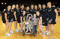 01.11.2012 Silver Ferns after the netball test match between the Silver Ferns and Australia as part of the Quad Series played at the Claudelands Arena in Hamilton. Mandatory Photo Credit ©Michael Bradley.