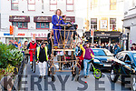 Plenty of skills and talents were on show throughout the town on Sunday afternoon as The National Circus Festival 2017 came to a triumphant end with a fantastic and colourful parade. The music-filled parade which featured floats, jugglers, hula-hoopers, stilt-walkers, penny farthings, unicycles, climbers, cartwheelers and everything in between kicked off from the Moyderwell area and made it's way into town, down Denny Street and back around to the Mall where a variety of performers put on a show for the crowds.
