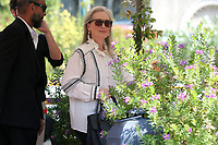 VENICE, ITALY - AUGUST 30:  Meryl Streep arrives in Darsena Excelsior during the 76th Venice Film Festival  on August 30, 2019 in Venice, Italy. (Photo by Mark Cape/Insidefoto)<br /> Venezia 01/09/2019