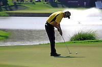 Daniel Chopra (SWE) sinks his putt on the 10th green during Sundays Final Round 3 of the 54 hole Iskandar Johor Open 2011 at the Horizon Hills Golf Resort Johor, Malaysia, 19th November 2011 (Photo Eoin Clarke/www.golffile.ie)