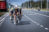 race leaders Guillaume Boivin (CAN/Israel Cycling Academy), Belgian Champion Tim Merlier (BEL/Corendon Circus), Michael Hepburn (AUS/Mitchelton Scott) and Aimé De Gendt (BEL/Wanty Gobert)<br /> <br /> Antwerp Port Epic 2019 <br /> One Day Race: Antwerp > Antwerp 187km<br /> <br /> ©kramon