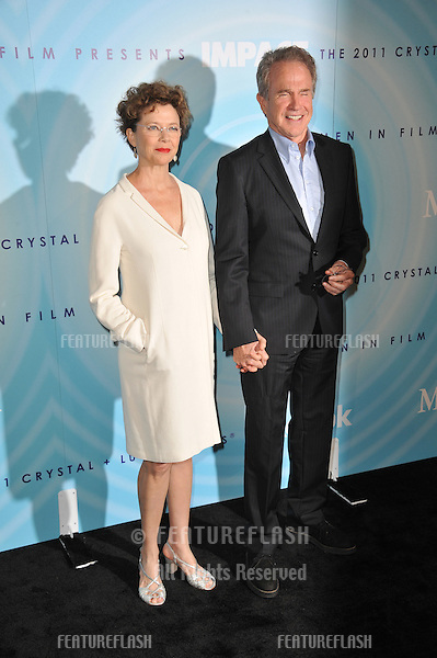 Annette Bening & husband Warren Beatty at the Women in Film 2011 Crystal + Lucy Awards at the Beverly Hilton Hotel..June 16, 2011  Beverly Hills, CA.Picture: Paul Smith / Featureflash
