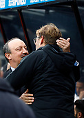 1st October 2017, St James Park, Newcastle upon Tyne, England; EPL Premier League football, Newcastle United versus Liverpool; Rafael Benitez Manager of Newcastle United and Jurgen Klopp Manager of Liverpool meet and greet before the match