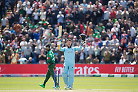 Jason Roy acknowledges his century during England vs Bangladesh, ICC World Cup Cricket at Sophia Gardens Cardiff on 8th June 2019