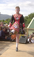 Caroline O' Brien from the Daly King school of Irish dancing  performing in the Munster Fleadh Cheoil na hEireann in Miltown Co. Kerry on Sunday afternoon.<br />