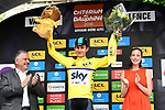 Polish National Champion Michal Kwiatkwoski (POL) Team Sky wins the opening Prologue and wears the first leaders jersey of the 2018 Criterium du Dauphine running 6.6km around Valence, France. 3rd June 2018.<br /> Picture: ASO/Alex Broadway | Cyclefile<br /> <br /> <br /> All photos usage must carry mandatory copyright credit (&copy; Cyclefile | ASO/Alex Broadway)