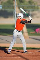 Tyler Henrich (50), from Venus, Texas, while playing for the Orioles during the Under Armour Baseball Factory Recruiting Classic at Red Mountain Baseball Complex on December 29, 2017 in Mesa, Arizona. (Zachary Lucy/Four Seam Images)