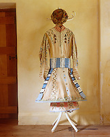 "A hand-painted robe with matching hat designed for the Ballet ""Thamar"" in 1912"