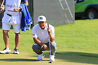 Hideto Tanihara (JPN) on the 17th green during Sunday's Final Round of the 2018 Turkish Airlines Open hosted by Regnum Carya Golf &amp; Spa Resort, Antalya, Turkey. 4th November 2018.<br /> Picture: Eoin Clarke | Golffile<br /> <br /> <br /> All photos usage must carry mandatory copyright credit (&copy; Golffile | Eoin Clarke)
