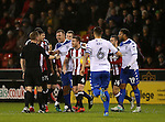 John Fleck of Sheffield Utd  protests during the English League One match at the Bramall Lane Stadium, Sheffield. Picture date: November 22nd, 2016. Pic Simon Bellis/Sportimage