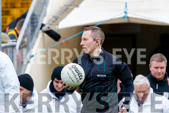 Referee Derek O'Mahony during the Allianz Football League Division 1 Round 4 match between Kerry and Meath at Fitzgerald Stadium in Killarney, on Sunday.