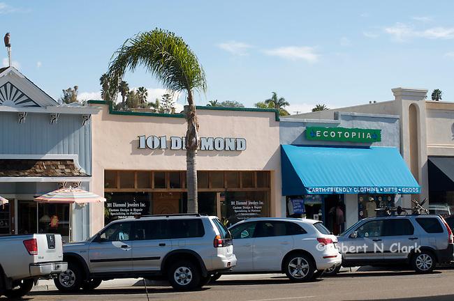 Shops downtown Encinitas