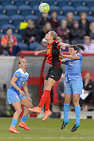 Bridgeview, IL, USA - Saturday, April 23, 2016: Western New York Flash defender Alanna Kennedy (8) during a regular season National Women's Soccer League match between the Chicago Red Stars and the Western New York Flash at Toyota Park. Chicago won 1-0.