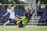 FORT MYERS, FL, 15.10.2018 – FGCU-WEBBER – Jogadora Evdoki Popadinova da FGCU (17), durante partida válida pela temporada 2018 da NCAA, no Estádio da FGCU Soccer Complex, na noite desta segunda-feira (15). (Foto: Jayson Braga / Brazil Photo Press)