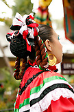 USA, California, San Diego, a close look at one of the garments worn by a member of Grupo Folklorico