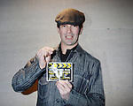 Chris Stack with OLTL Wrap Party Invitation - Actors, crew, production, family come to One Life To Live's wrap party and video tribute on November 18, 2011 at Capitale, New York City, New York.  (Photo by Sue Coflin/Max Photos)