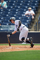 Tampa Tarpons Matt Pita (6) hits a double during a Florida State League game against the Lakeland Flying Tigers on April 7, 2019 at George M. Steinbrenner Field in Tampa, Florida.  Tampa defeated Lakeland 3-2.  (Mike Janes/Four Seam Images)
