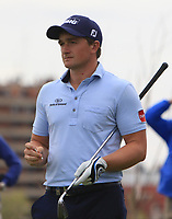Paul Dunne (IRL) on the 2nd tee during Round 4 of the Open de Espana 2018 at Centro Nacional de Golf on Sunday 15th April 2018.<br /> Picture:  Thos Caffrey / www.golffile.ie<br /> <br /> All photo usage must carry mandatory copyright credit (&copy; Golffile | Thos Caffrey)