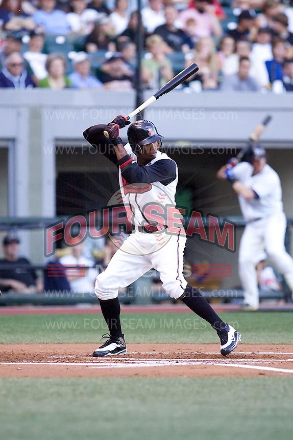 July 15, 2009: Nashville Sounds' Alcides Escobar at-bat during the 2009 Triple-A All-Star Game at PGE Park in Portland, Oregon.