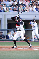 July 15, 2009: Nashville Sounds' Alcides Escobar at-bat during the 2009 Triple-A All-Star Game at PGE Park in Portland, Oregon.