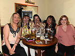 Deborah Mullan, Catriona Bagnall, Maria Levins, Janice Hoey and Shirley Brady at Mary Kelly and Mona Murphy's retirement party in The Mariner. Photo:Colin Bell/pressphotos.ie