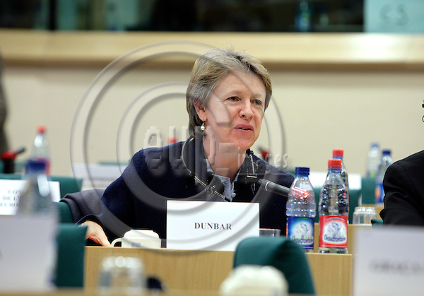 BRUSSELS - BELGIUM - 19 DECEMBER 2006 -- Director Muriel DUNBAR during her European Traning Foundation (ETF) presentation of the ETF yearbook 2006 'Skills Development for Poverty Reduction' for the Committee on Culture and Education in the European Parliament.   PHOTO: ERIK LUNTANG / EUP-IMAGES