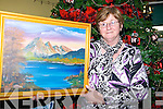 Peggie Casey, Ballyheigue showing one of her works of art at the arts and crafts fair in at The Seancahi Centre in Listowel on Sunday...   Copyright Kerry's Eye 2008