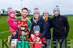 Kevin O'Gorman celebrates with his family Michelle, John and Sophia Dunlea, Mary and Michael Gorman after winning the Munster Intermediate Championship in Mallow on Sunday