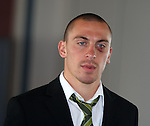 Scott Brown sporting a shiner of a black eye after he was clobbered by Darren Dods on Saturday
