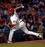 18 May 2007: Washington Nationals pitcher Winston Abreu in action against the Baltimore Orioles at RFK Stadium in Washington, DC. The Orioles defeated the Nationals 5-4 in the first game of the 3-game interleague series...Mandatory Photo Credit: Ed Wolfstein Photo