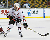 Wade MacLeod (Northeastern - 19) - The Northeastern University Huskies defeated the Harvard University Crimson 4-0 in their Beanpot opener on Monday, February 7, 2011, at TD Garden in Boston, Massachusetts.