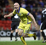 St Johnstone v Kilmarnock....06.11.10  .Conor Salmon celebrates his goal.Picture by Graeme Hart..Copyright Perthshire Picture Agency.Tel: 01738 623350  Mobile: 07990 594431