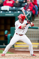 Mike O'Neill #7 of the Springfield Cardinals at bat during a game against the Tulsa Drillers at Hammons Field on May 4, 2013 in Springfield, Missouri. (David Welker/Four Seam Images)