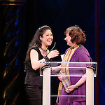 Ruthie Ann Miles, Meg Bussert during the 69th Annual Theatre World Awards Presentation at the Music Box Theatre in New York City on June 03, 2013.